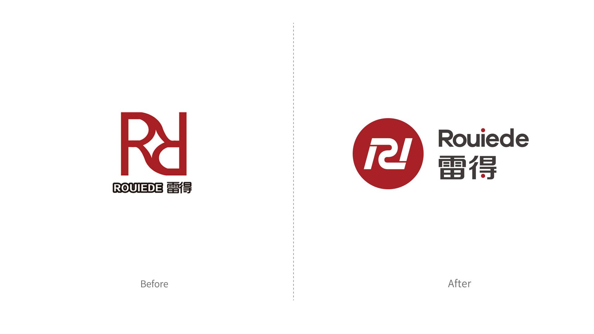 雷得电磁炉品牌形象改造升级logo设计